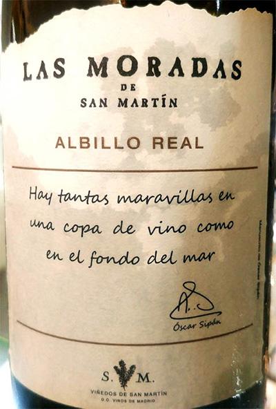 Отзыв о вине Las Moradas de San Martin Albillo Real 2017