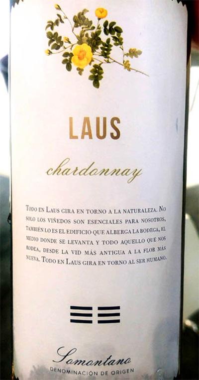 Отзыв о вине Laus Chardonnay Somontano 2018