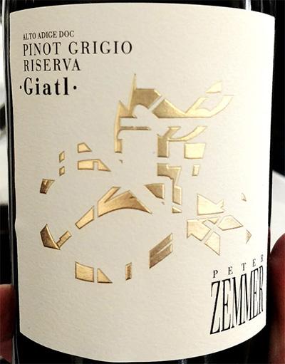 Отзыв о вине Peter Zemmer Giatl Pinot Grigio Riserva Alto Adige Sudtirol 2016