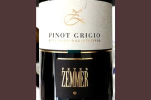 Отзыв о вине Peter Zemmer Pinot Grigio Alto Adige Sudtirol 2018