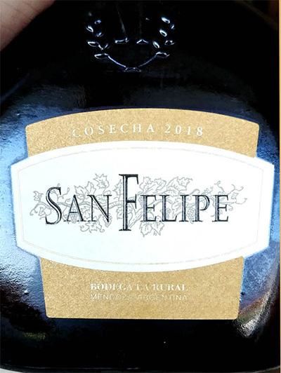 Отзыв о вине San Felipe cosecha 2018
