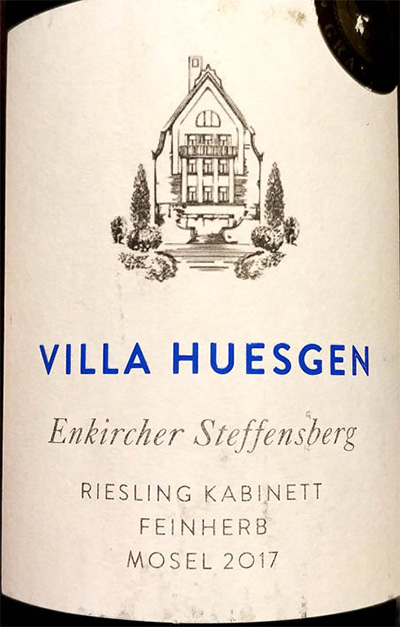 Отзыв о вине Villa Huesgen Riesling kabinett Mozel 2017