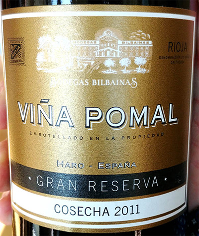 Отзыв о вине Bodegas Bilnainas Vina Pomal Gran Reserva cosecha 2011