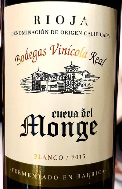 Отзыв о вине Bodegas Vinicola Real Cueva del Monge blanco 2015