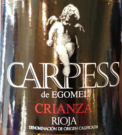 Отзыв о вине Carpress de Egomei Crianza Rioja 2015