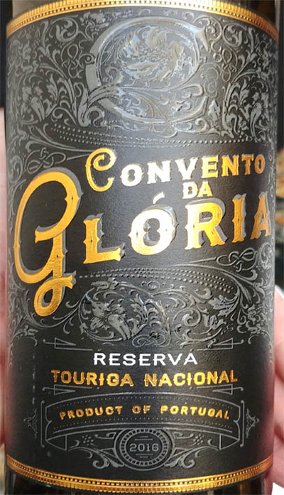 Отзыв о вине Convento da Gloria Touriga Nicional reserva 2016