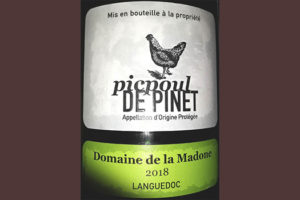 Отзыв о вине Domaine de la Madone Picpoul de Pinet 2018