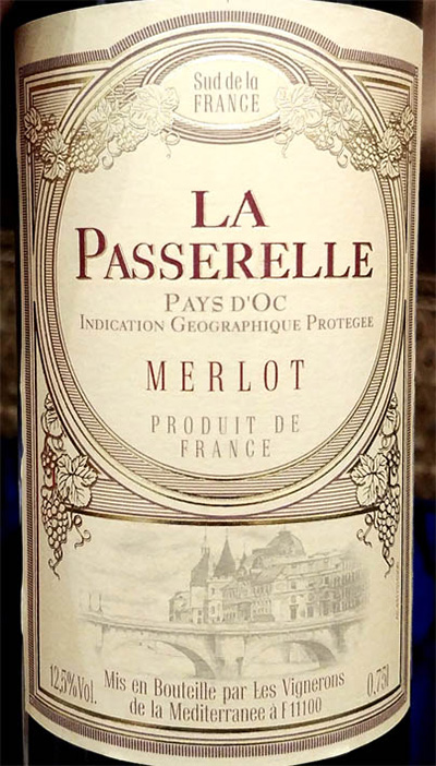 Отзыв о вине La Passerelle Merlot Pays d'Oc 2016