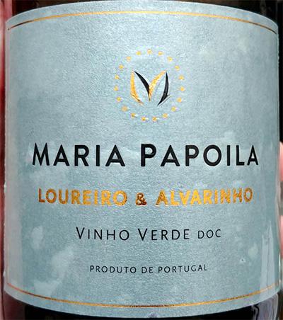 Отзыв о вине Maria Papoila Loureiro & Alvarinho Vinho Verde 2017