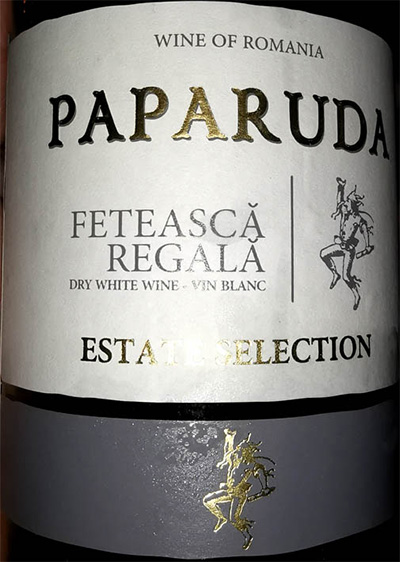 Отзыв о вине Paparuda Feteaska Regala estate selection 2015