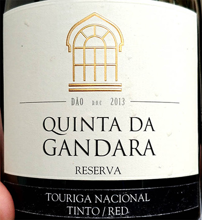 Отзыв о вине Quinta da Gandara Touriga Nicional reserva 2013