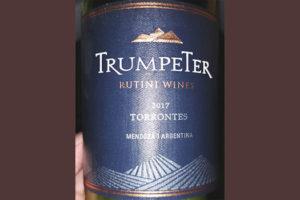 Отзыв о вине Rutini Wines Trumpeter Torrontes 2017