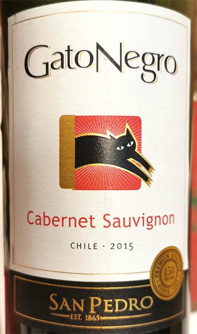 Отзыв о вине San Pedro Gato Negro Cabernet Sauvignon 2015