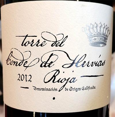 Отзыв о вине Torre del Conde de Hervias Rioja 2012