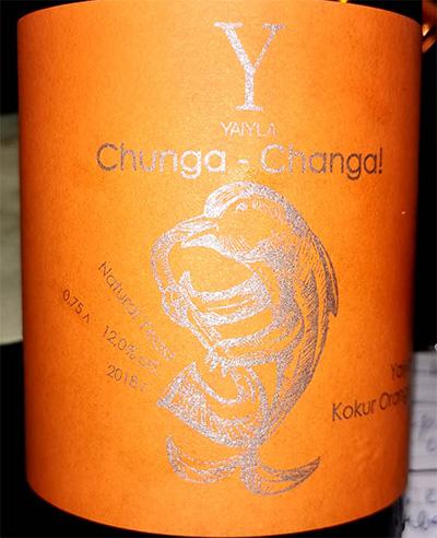Отзыв о вине Yaiyla Chunga — Changa Kokur Orange 2018