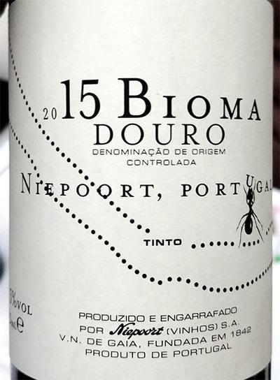 Отзыв о вине Bioma Douro Nieport Portugal tinto 2015