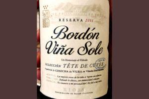 Отзыв о вине Bodegas Franco-Espanolas Bordon Vina Sole Seleccion Tete de Cuvee Rioja 2011
