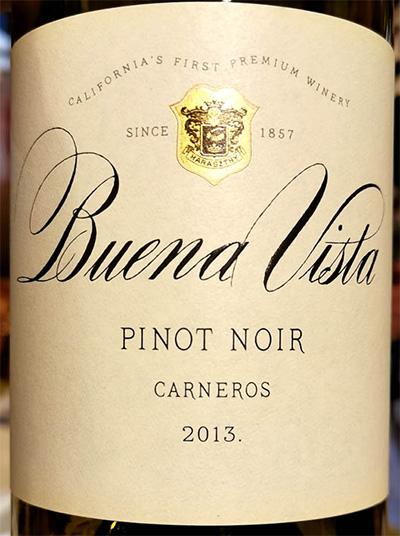 Отзыв о вине Buena Vista Pinot Noir Carneros California 2013