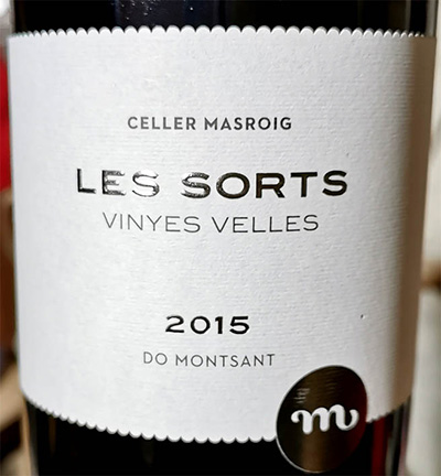 Отзыв о вине Cellar Masroig Les Sorts vinyes velles Montsant 2015