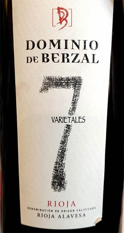 Отзыв о вине Dominio de Berzal 7 Varietales Rioja 2016
