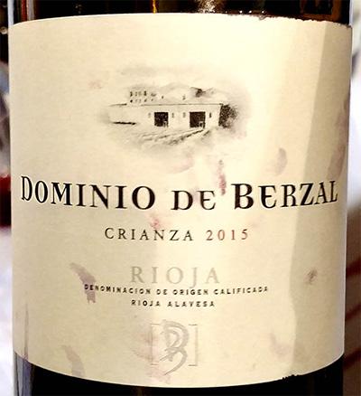 Отзыв о вине Dominio de Berzal Crianza Rioja 2015
