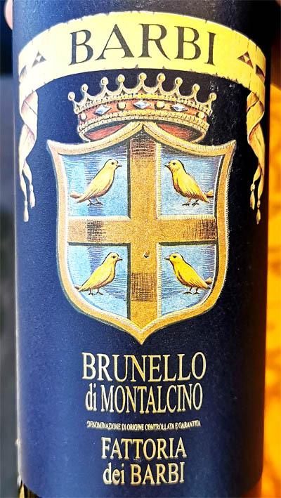 Отзыв о вине Fattoria dei Barbi Brunello di Montalcino Toscana 2012