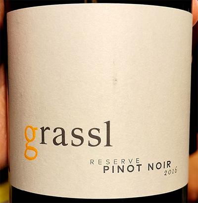 Отзыв о вине Grassl Reserve Pinot Noir 2016