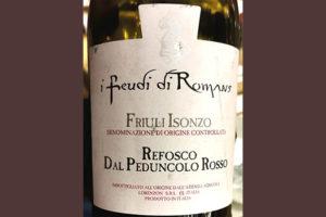 Отзыв о вине I Feudi di Romans Friuli Isonzo Refosco dal Peduncolo Rosso 2016