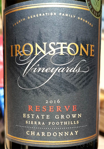 Отзыв о вине Ironstone Vineyards Chardonnay Reserve Sierra Foothills 2016