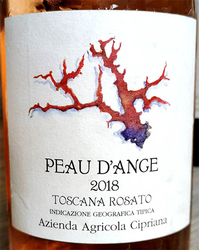 Отзыв о вине Le Capriana Peau d'Ange Toscana Rosato 2018