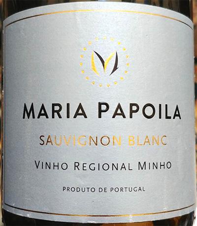 Отзыв о вине Maria Papoila Sauvignon Blanc 2018