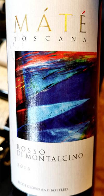 Отзыв о вине Mate Rosso di Montalcino Toscana 2016