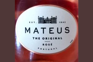 Отзыв о вине Mateus The Original Rose Portugal 2018