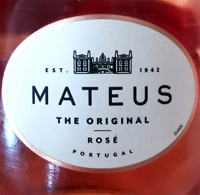 Отзыв о вине Mateus The Original Rose Portugal 2018