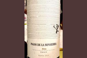 Отзыв о вине Pagos de la Sonsierra Reserva Rioja 2014