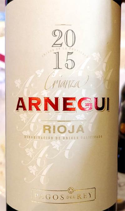 Отзыв о вине Pagos del Rey Arnegui Crianza Rioja 2015