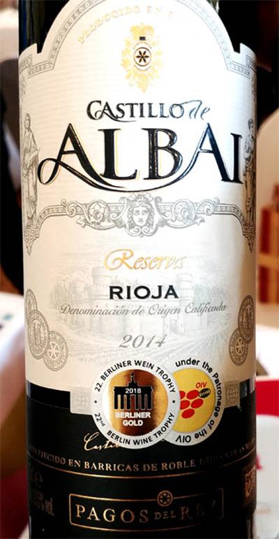 Отзыв о вине Pagos del Rey Castillo de Albai Reserva Rioja 2014