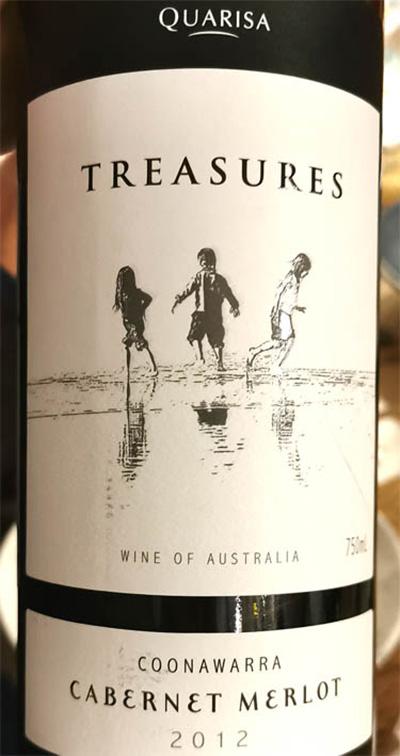 Отзыв о вине Quarisa Treasures Cabernet Merlot Coonawarra 2012