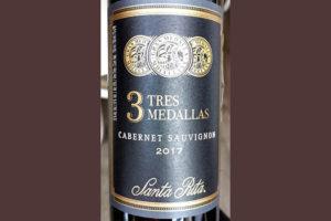 Отзыв о вине Santa Rita 3 Tres Medales Cabernet Sauvignon 2017
