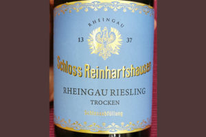 Отзыв о вине Schloss Reinhartshausen Rheingau Risling Trocken 2017