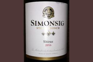 Отзыв о вине Simonsig Shiraz Stellenbosch 2016