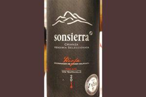 Отзыв о вине Sonsierra Crianza Vendemia Seleccionada Rioja 2014