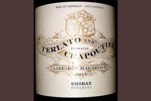 Отзыв о вине Terlato and Chapoutier Lieu-dit Malakoff Shiraz Pyrenees Australia 2014