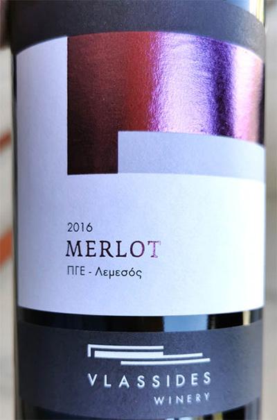 Отзыв о вине Vlassides Winery Merlot 2016