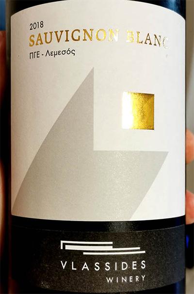 Отзыв о вине Vlassides Winery Sauvignon Blanc 2018