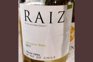 Отзыв о вине Aguerre Family Raiz Sauvignon Blanc Chile 2017