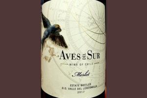 Отзыв о вине Aves del Sur Merlot Valle del Loncomilla Chile 2017