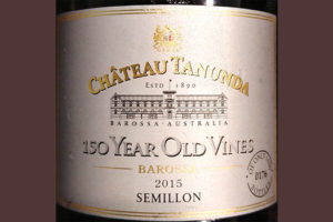 Отзыв о вине Chateau Tanunda 150 Year Old Vines Semillon Barossa 2015