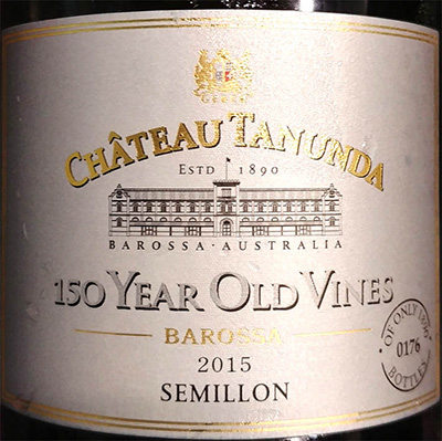Отзыв о вине Chateau Tanunda 150 Year Old Vines Semillon Barossa 2015