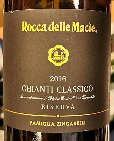 Отзыв о вине Familia Zingarelli Rocca delle Macie Chianti Classico Riserva 2016